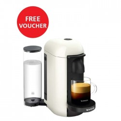 Nespresso VertuoPlus Deluxe Coffee and Espresso Machine - White + Free Voucher