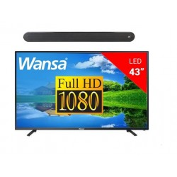 Wansa 43-inch Full HD (1080p) Standard LED TV + Polk Audio Signa Solo Wireless Soundbar