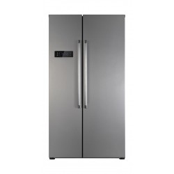 Wansa 20 Cft. Side-By-Side Refrigerator (556NFIC8) - Inox