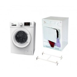 Wansa Gold 8kg Front Load Washing Machine + Wansa Gold Condenser Dryer 7kg + Wansa Washer and Dryer Stacking Unit