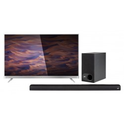 Wansa 65 inch 4K Ultra HD Smart LED TV + Polk Audio Signa 2 Wireless Soundbar