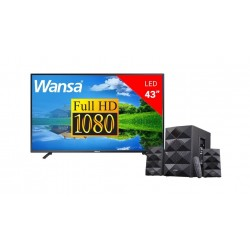 Wansa 43-inch Full HD (1080p) Standard LED TV With 2USB Ports  + F&D 2.1 Ch Bluetooth Speaker