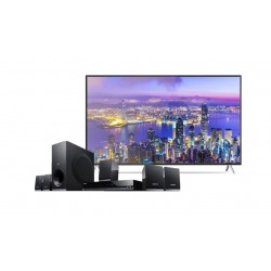 Wansa 55 inch Ultra HD Smart LED TV + Sony DVD Home Theatre System 5.1CH 300W