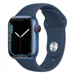 Apple Watch Series 7 41mm shiny Abyss Blue new silicone buy in xcite ksa