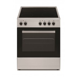 Wansa 60x60cm 4 Ceramic Burners, Electric Cooker (WCT6040041X) – Stainless Steel  Front View