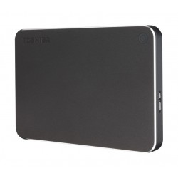 Toshiba 2TB Canvio Premium Portable Hard Drive (HDTW120EB3CA) – Metal Black
