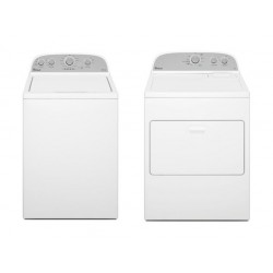 Whirlpool Atlantis 15kg 6th Sense Top Loading Washing Machine + Whirlpool 15kg Air Vented Dryer