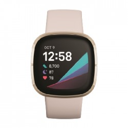 Fitbit Sense Smart Watch - White / Gold