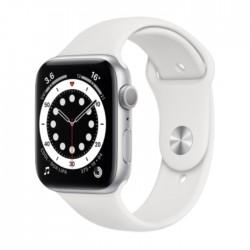 Apple Watch Series 6 GPS 40mm Aluminum Case Smart Watch - Silver / White