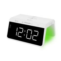 Promate Timebridge-Qi 10W Alarm Clock W/Light - White