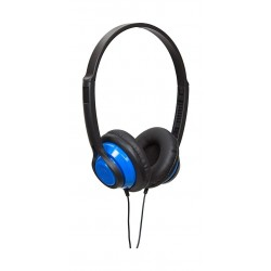 Wicked Audio Clutch On Ear Wired Dynamic Crystal Clear Stereo Sound Headphones - Blue