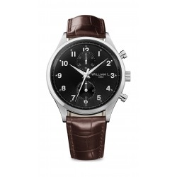William L Small Chronograph Leather Watch - WLAC02NRCM