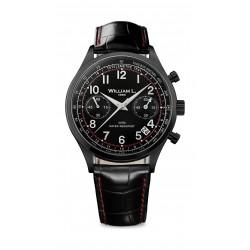 William L Vintage Style Chronograph Leather Watch - WLIB01NRCNSR