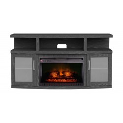 Wansa Upto 65-inch TV Stand With Electronic Fire Place - (WSM065F66) Package