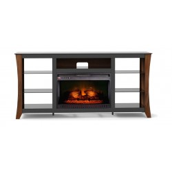 Wansa Upto 75-inch TV Stand With Electronic Fire Place