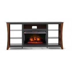 Wansa Upto 75-inch TV Stand With Electronic Fire Place - (WSM075F66) Package