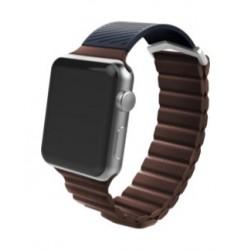 X-Doria Hybrid 38mm Apple Watch Leather Band (469203) - Brown