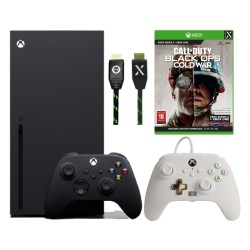 Xbox Series X 1TB Console with PowerA  Wired Controller Mist and USB-C 4M Braided Cable and Call Of Duty Game