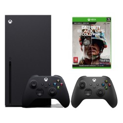 Xbox Series X 1TB Console with Xbox Wireless Controller Carbon Black color and Call Of Duty: Black Ops Cold War Game
