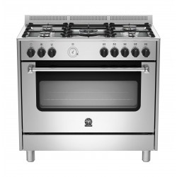Lagermania 90x60 cm 5-Burner Floor Standing Gas Cooker (AMS95C81CX)