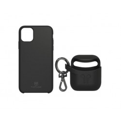 PodPocket iPhone 11 Pro Max Case + AirPod Case - Midnight Black