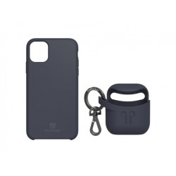 PodPocket iPhone 11 Pro Max Case + AirPod Case - Indigo Blue