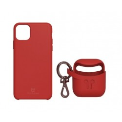PodPocket iPhone 11 Pro Case + AirPod Case - Blazing Red