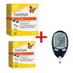 Omron Set Glucose Monitor + 100 Strips (50/Box)