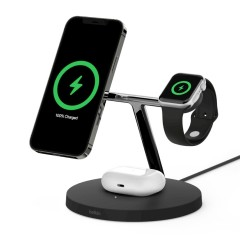 Belkin MagSafe 15W 3-in-1 Wireless Charger - Black