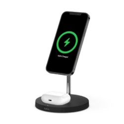 Belkin 15W 2 in 1 Wireless Charger Stand – Black