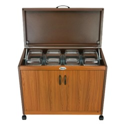 Wansa Trolley Teak 4 Dishes (4DTLL)