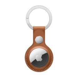 Apple AirTag Leather Key Ring - Brown