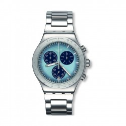 Swatch Sky Icon Quartz Chronograph 43mm Metal Watch (YVS459G)