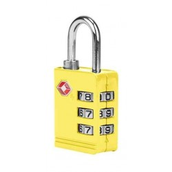 American Tourister 3-Dial TSA Combination Lock - Yellow
