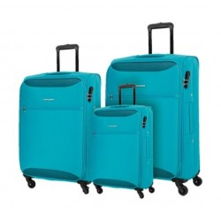 Kamiliant Zaka 3 Sets Soft Luggage (55+69+80cm) - Aqua Blue