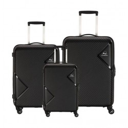 Kamiliant Zakk Spinner Hard Luggage Set Of 3 - Black