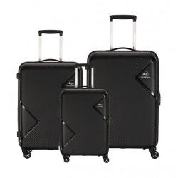 Kamiliant Zakk Spinner Hard Luggage Set Of 3 - Black