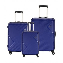 Kamiliant Zakk Spinner Hard Luggage Set Of 3 - Royal Blue