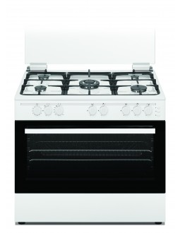 Wansa 90x60cm 5 Burners Free Standing Gas Cooker (WCT9502124W) – White