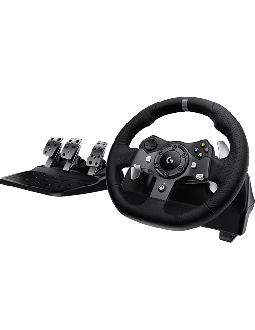 Logitech Driving Force Steering Wheel and Pedals for Xbox One and PC (941-000124) - Black