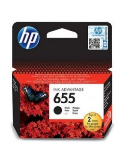 HP Ink 655B for InkJet Printing 550 Page Yield - Black (Single Pack)