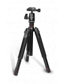 Promate Tripod Monopod With Professional 5 Section & 360 Degree For Smartphones, Canon, Nikon, DSLR, Camcorder (Precise-155)