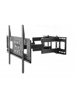 Wansa Full Motion Wall Bracket For 32 to 65-inch TV's (PSW882) - Black