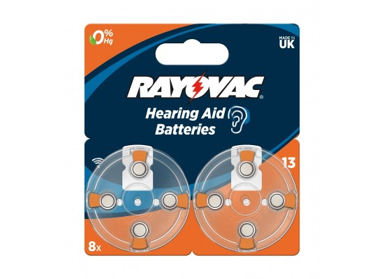 Rayovac 13 Blister Hearing Aid Batteries - 8Pcs