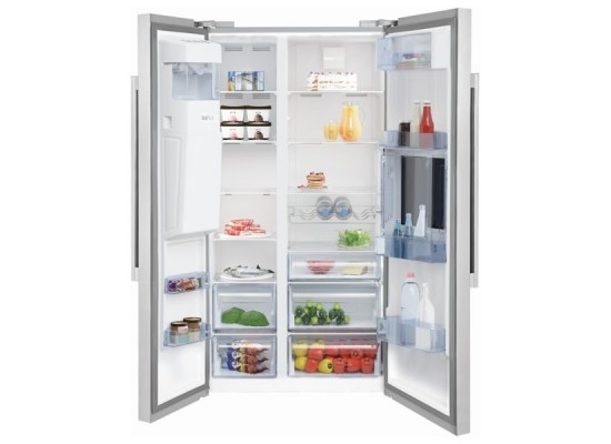 Beko 24 Cft Side by Side Refrigerator (GN168421X) - Silver