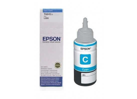 Epson T6642 Ink Bottle for InkJet Printing 6500 Page Yield - Cyan (70 ml)