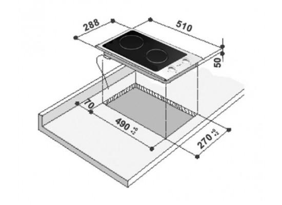 Whirlpool 30cm 2- Solid Plate Electric Domino Hob (AKT 310 IX)