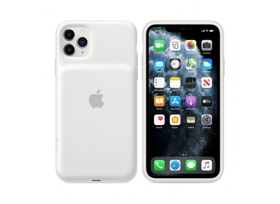 iPhone 11 Pro Max Smart Battery Case - White
