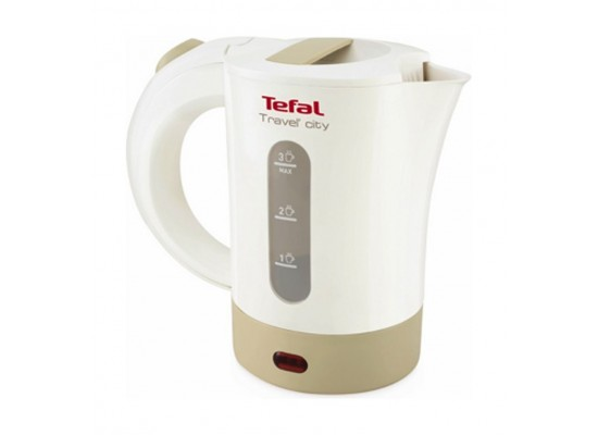 Tefal 650W 500ml Electric Travel Kettle (KO120127) - White