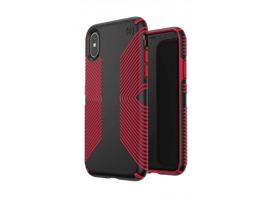 uk availability 30cae 883c2 Speck Presidio Grip Case For iPhone X - Red